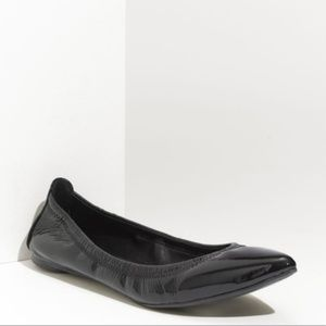 Tory Burch Black Patent Pointed Toe Flats